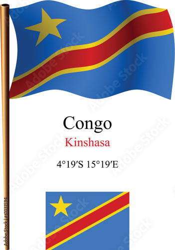 congo wavy flag and coordinates