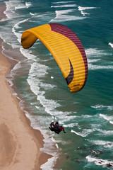 para-glider over ocean