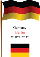 germany wavy flag and coordinates