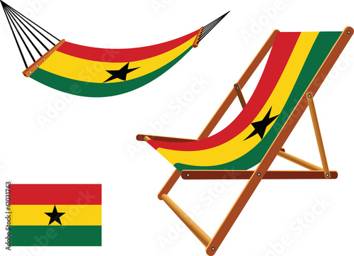 ghana hammock and deck chair set
