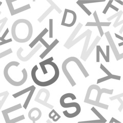 Vector pattern made with the alphabet