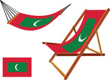 maldives hammock and deck chair set