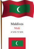 maldives wavy flag and coordinates