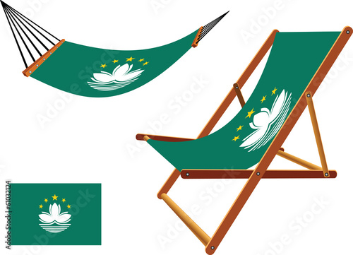 macau hammock and deck chair set