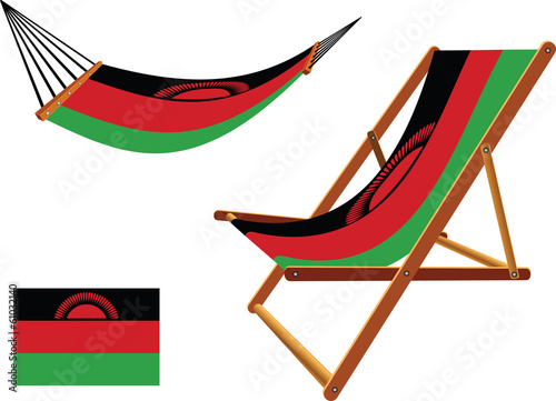malawi hammock and deck chair set