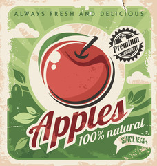 Vintage apple poster