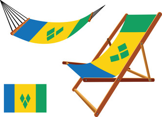 saint vincent and the grenadines hammock and deck chair set