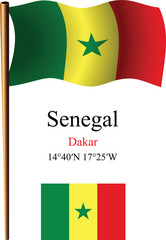 senegal wavy flag and coordinates