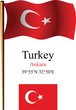 turkey wavy flag and coordinates