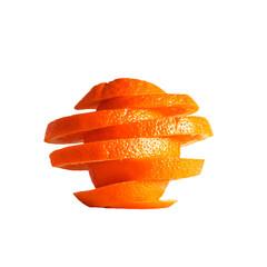 Puzzled orange on white