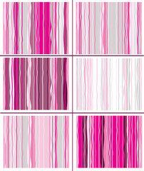 Vector seamless striped patterns.