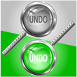 Undo. Vector magnifying glass.