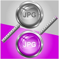 Jpg. Vector magnifying glass.