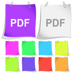 Pdf. Vector note papers.