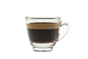 Espresso shot in Glass isolated on white