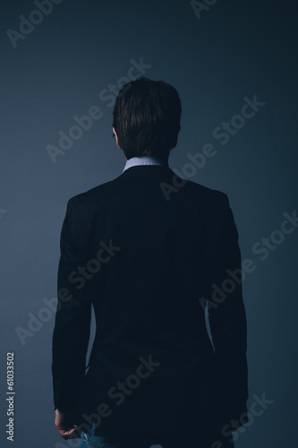 Rear view of a stylish businessman