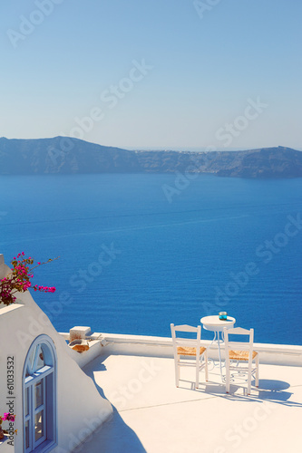 Rooftop Chairs on Santorini Greece
