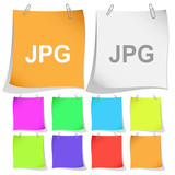 Jpg. Vector note papers.
