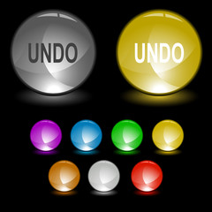 Undo. Vector interface element.