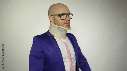 A man with a broken neck