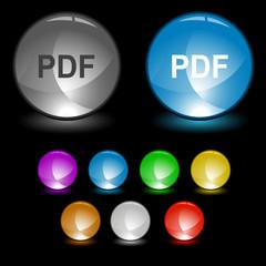 Pdf. Vector interface element.