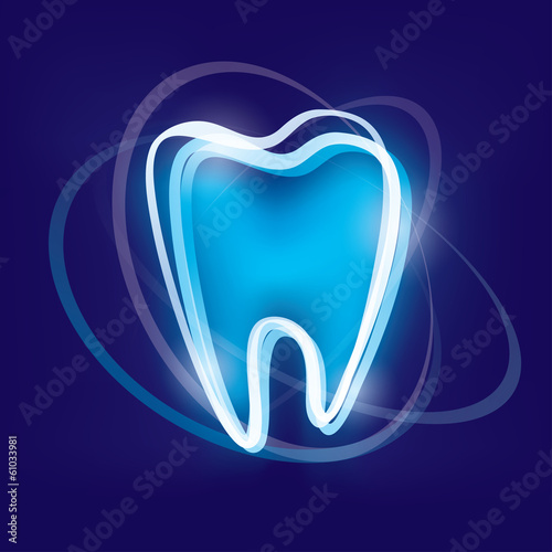 tooth protection abstract vector symbol