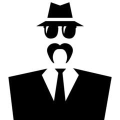 Gangster con mostacho.