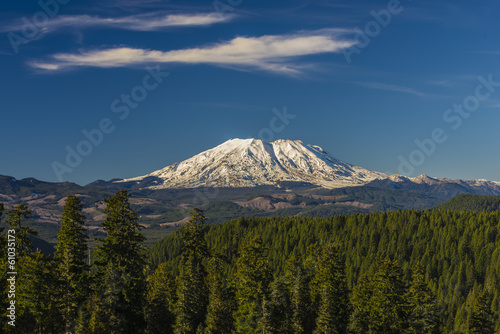 Foto op Canvas Vulkaan Mount St. Helens on a clear day