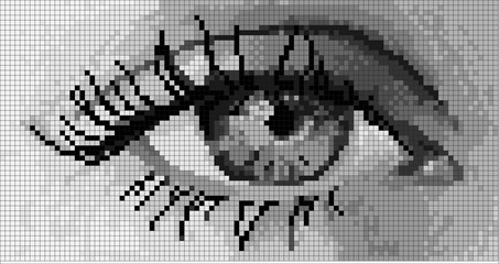 Simple pixel the human eye