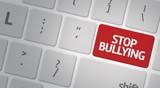 Stop Bullying computer keyboard poster