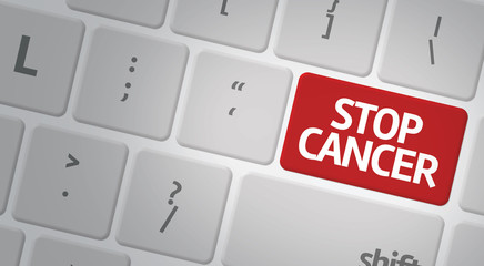 Stop Cancer computer keyboard