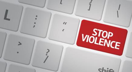 Stop Violence computer keyboard