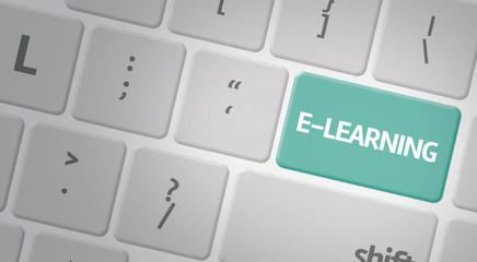 E-Learning computer keyboard