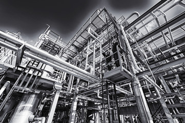 oil, gas and fuel refinery, petrochemical industry