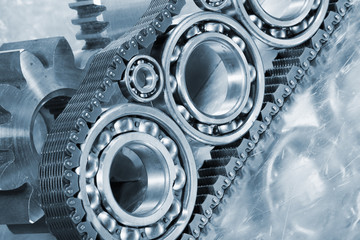 ball-bearings, gears and timing-chains