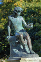 Sitting Bacchus near the Rosendal Palace in Stockholm, Sweden