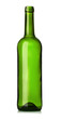 Empty green glass wine bottle