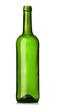 Empty green glass wine bottle
