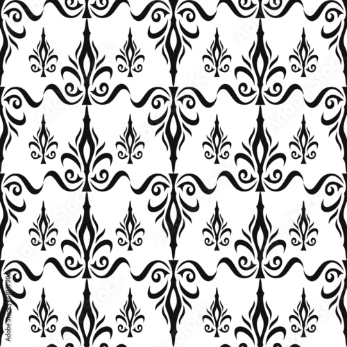 Damask seamless floral pattern. Royal wallpaper