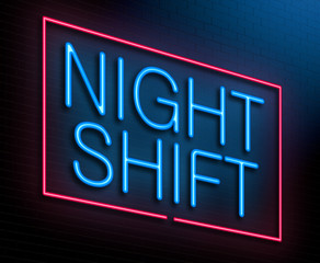 Night shift concept.