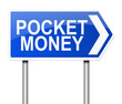 Pocket money concept.