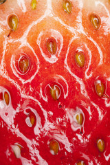 strawberry, strawberry showing close up texture of surface