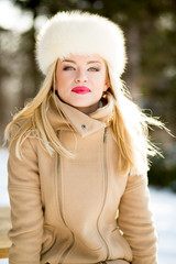 Beautiful winter portrait