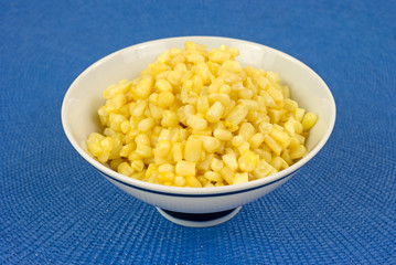 Small shoepeg corn in bowl