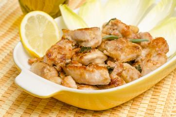 Carne di pollo fritto