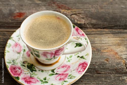 Cup of freshly brewed Turkish coffee