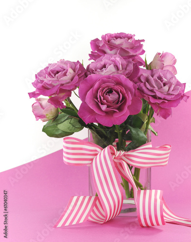 Beautiful pink gift of roses