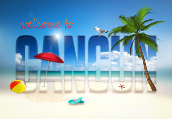Welcome to Cancun illustration