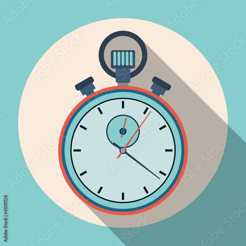 Stopwatch flat vector illustration