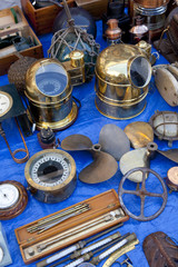 Old compasses and other naval antiques